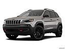 2019 Jeep Cherokee Trailhawk Elite, front angle medium view.