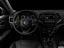 "2019 Jeep Cherokee Trailhawk Elite, centered wide dash shot - ""night"" shot."