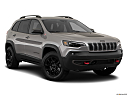 2019 Jeep Cherokee Trailhawk Elite, front passenger 3/4 w/ wheels turned.
