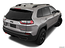 2019 Jeep Cherokee Trailhawk Elite, rear 3/4 angle view.