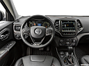 2019 Jeep Cherokee Trailhawk Elite, steering wheel/center console.