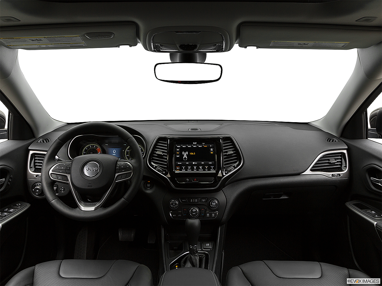 2019 Jeep Cherokee Limited, centered wide dash shot
