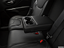 2019 Jeep Cherokee Limited, rear center console with closed lid from driver's side looking down.