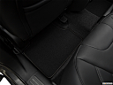 2019 Jeep Cherokee Limited, rear driver's side floor mat. mid-seat level from outside looking in.