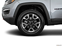 2019 Jeep Compass Trailhawk, front drivers side wheel at profile.