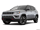 2019 Jeep Compass Trailhawk, front angle medium view.