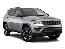 2019 Jeep Compass Trailhawk, front passenger 3/4 w/ wheels turned.