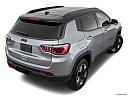 2019 Jeep Compass Trailhawk, rear 3/4 angle view.
