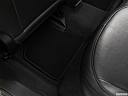 2019 Jeep Compass Altitude, rear driver's side floor mat. mid-seat level from outside looking in.