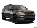 2019 Jeep Compass Altitude, front passenger 3/4 w/ wheels turned.