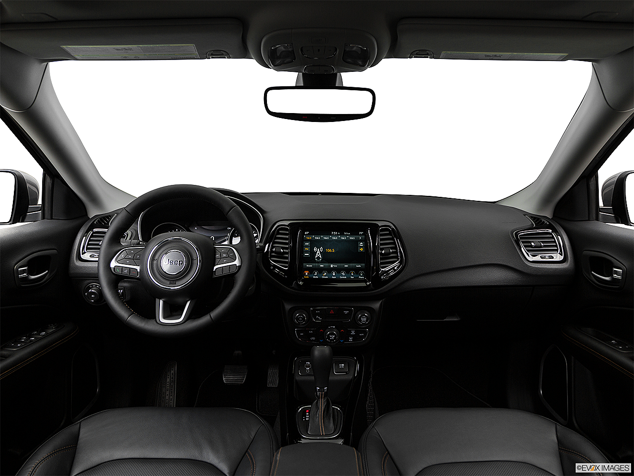2019 Jeep Compass Limited, centered wide dash shot