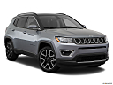 2019 Jeep Compass Limited, front passenger 3/4 w/ wheels turned.