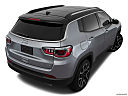 2019 Jeep Compass Limited, rear 3/4 angle view.