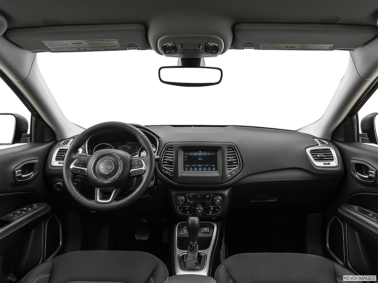 2019 Jeep Compass Sport, centered wide dash shot