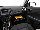 2019 Jeep Compass Sport, glove box open.