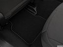2019 Jeep Compass Sport, rear driver's side floor mat. mid-seat level from outside looking in.
