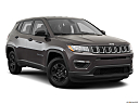 2019 Jeep Compass Sport, front passenger 3/4 w/ wheels turned.