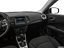 2019 Jeep Compass Sport, center console/passenger side.