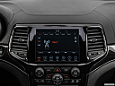2019 Jeep Grand Cherokee Overland, closeup of radio head unit