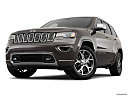 2019 Jeep Grand Cherokee Overland, front angle view, low wide perspective.