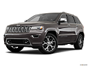 2019 Jeep Grand Cherokee Overland, front angle medium view.