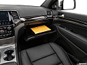 2019 Jeep Grand Cherokee Overland, glove box open.