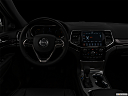 "2019 Jeep Grand Cherokee Overland, centered wide dash shot - ""night"" shot."