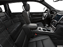 2019 Jeep Grand Cherokee Overland, fake buck shot - interior from passenger b pillar.