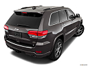 2019 Jeep Grand Cherokee Overland, rear 3/4 angle view.