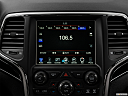 2019 Jeep Grand Cherokee Trailhawk, closeup of radio head unit