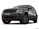 2019 Jeep Grand Cherokee Trailhawk, front angle view, low wide perspective.