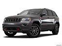 2019 Jeep Grand Cherokee Trailhawk, front angle medium view.