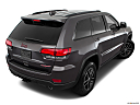 2019 Jeep Grand Cherokee Trailhawk, rear 3/4 angle view.