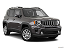 2019 Jeep Renegade Latitude, front passenger 3/4 w/ wheels turned.