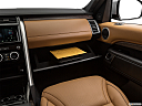 2019 Land Rover Discovery HSE Luxury, glove box open.