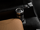 2019 Land Rover Discovery HSE Luxury, third row side cup holder with coffee prop.