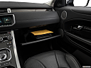2019 Land Rover Range Rover Evoque HSE, glove box open.
