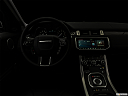 "2019 Land Rover Range Rover Evoque HSE, centered wide dash shot - ""night"" shot."