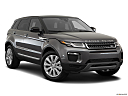 2019 Land Rover Range Rover Evoque HSE, front passenger 3/4 w/ wheels turned.