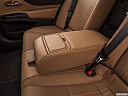 2019 Lexus ES ES 350 Luxury, rear center console with closed lid from driver's side looking down.