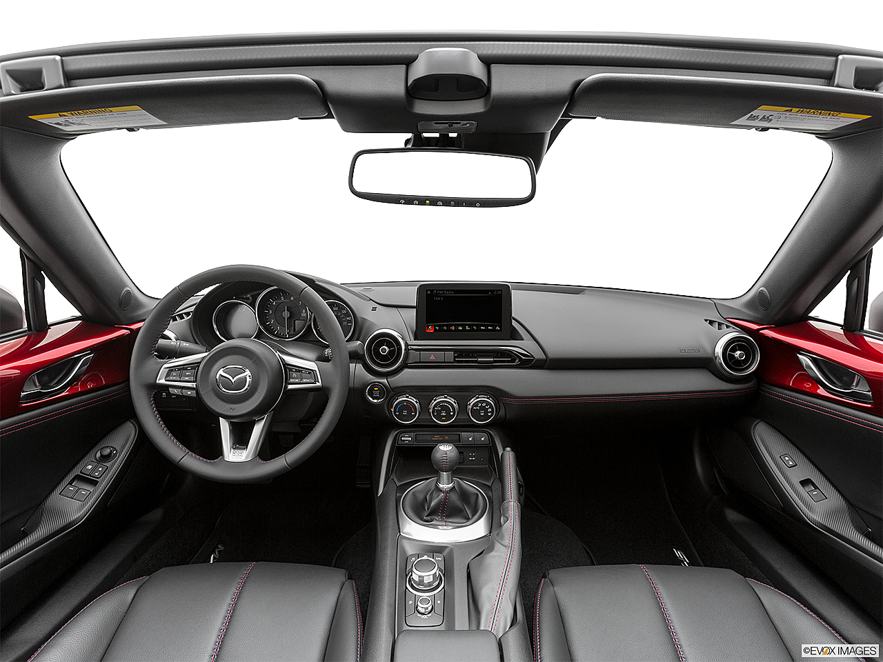 2019 Mazda MX-5 Miata RF Grand Touring, centered wide dash shot