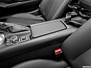 2019 Mazda MX-5 Miata RF Grand Touring, front center console with closed lid, from driver's side looking down