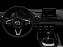 "2019 Mazda MX-5 Miata RF Grand Touring, centered wide dash shot - ""night"" shot."