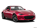 2019 Mazda MX-5 Miata RF Grand Touring, front passenger 3/4 w/ wheels turned.