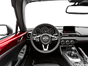 2019 Mazda MX-5 Miata RF Grand Touring, steering wheel/center console.