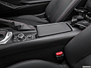 2019 Mazda MX-5 Miata Grand Touring, front center console with closed lid, from driver's side looking down