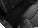 2019 Mercedes-Benz A-Class A220, rear driver's side floor mat. mid-seat level from outside looking in.