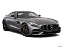 2019 Mercedes-Benz AMG GT S, front passenger 3/4 w/ wheels turned.