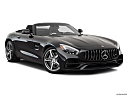 2019 Mercedes-Benz AMG GT, front passenger 3/4 w/ wheels turned.