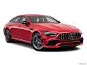 2019 Mercedes-Benz AMG GT AMG GT 53, front passenger 3/4 w/ wheels turned.